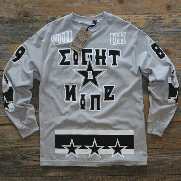 Moscow Wolf Grey Hockey Jersey Tee L/S - 1