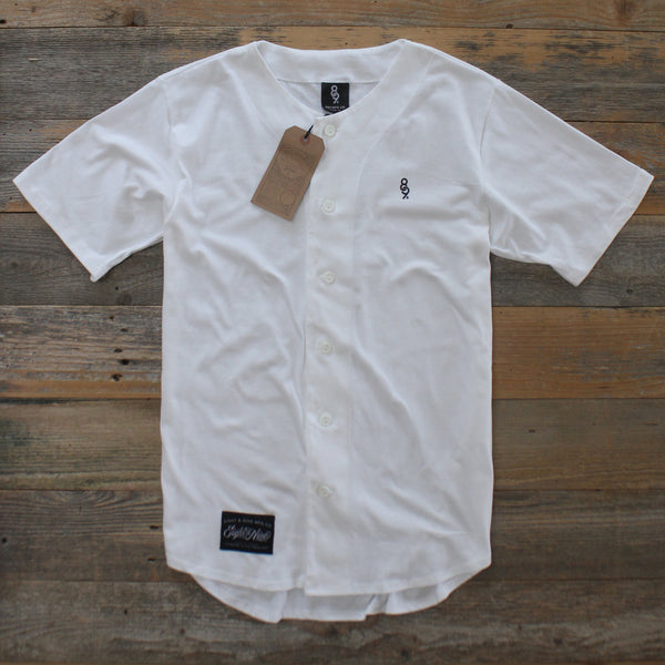 Mini Keys Cotton Baseball Jersey White - 2