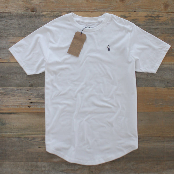 Curved Hem Mini Keys Shirt White - 3