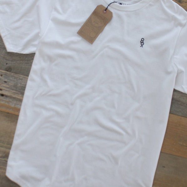Curved Hem Mini Keys Shirt White - 4
