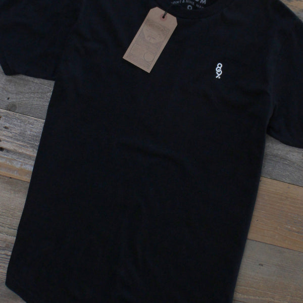 Curved Hem Mini Keys Shirt Black - 4