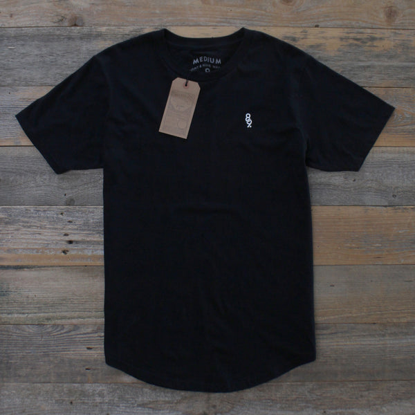 Curved Hem Mini Keys Shirt Black - 3