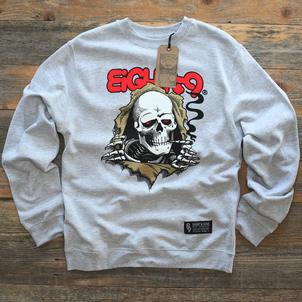 Ripped Rippers Crewneck Sweatshirt Grey - 1