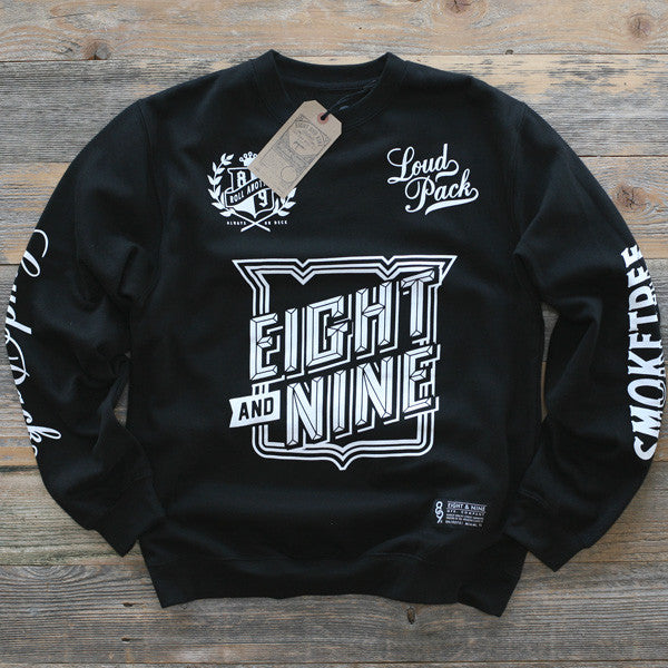 SmokeTree Crewneck Sweatshirt Black - 1