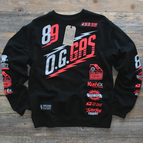 OG Gas Crewneck Sweatshirt Infrared - 1