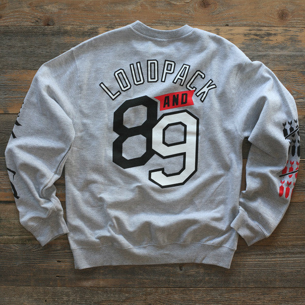 Fully Blown Crewneck Sweatshirt Grey - 2