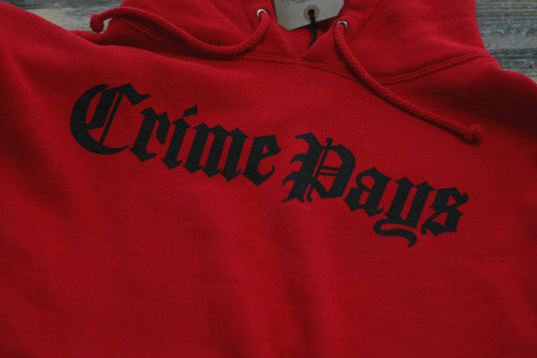 Crime Pays Hooded Sweatshirt Red - 2