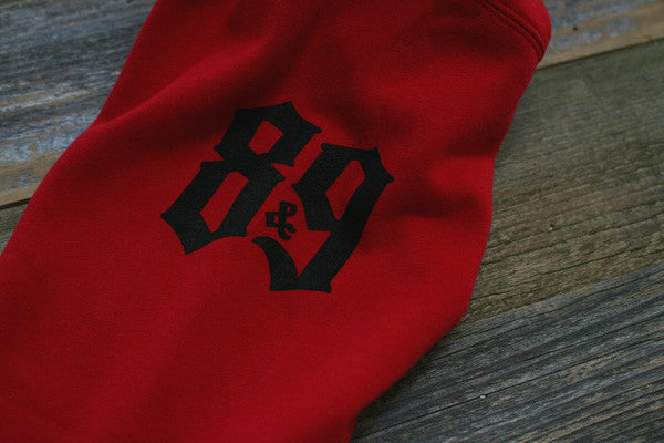 Crime Pays Hooded Sweatshirt Red - 3