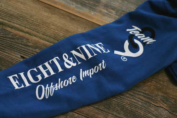Offshore Imports Zip Up Hoody Sport Blue - 4
