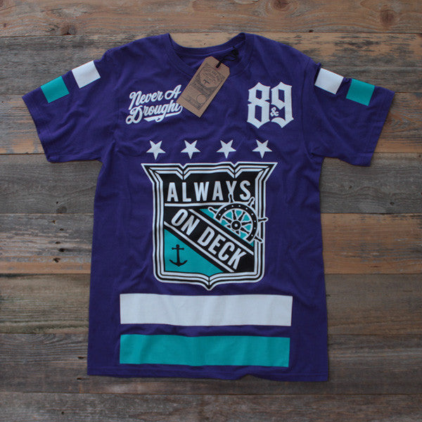 On Deck Hockey Jersey Tee Grape - 1