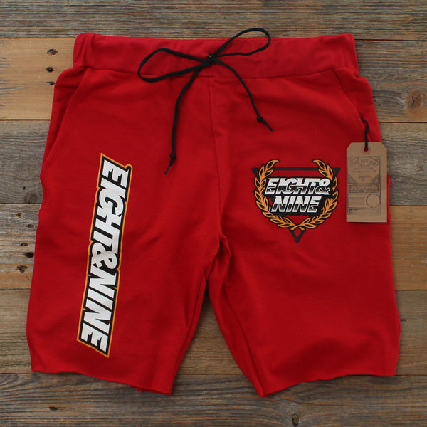 Daytona 2.0 French Terry Shorts Red