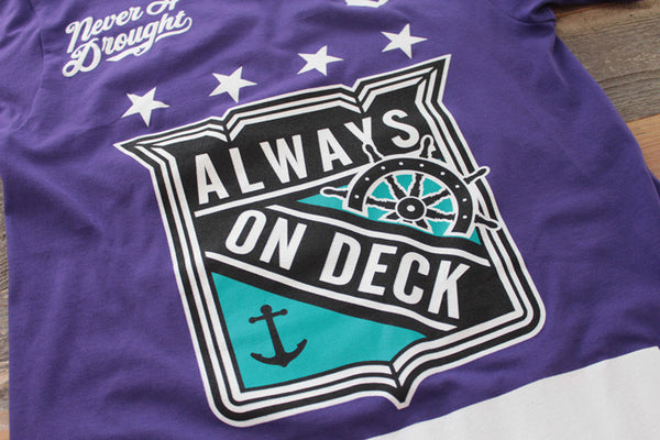 On Deck Hockey Jersey Tee Grape - 4