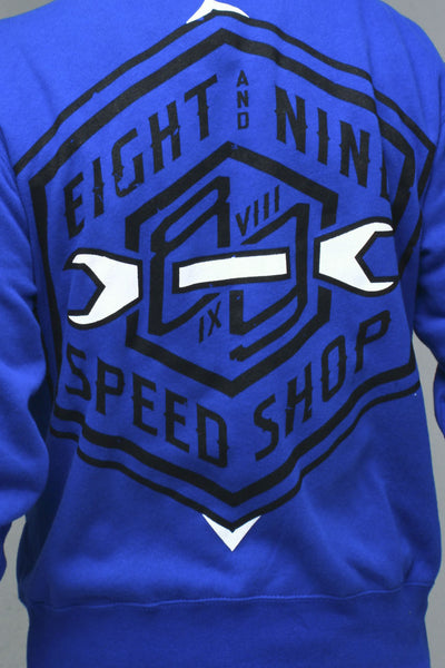 Speed Shop Royal Zip Up Sweatshirt - 3