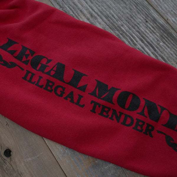 Legal Money Zip Up Hoody Red - 9