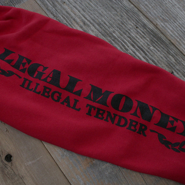 Legal Money Zip Up Hoody Red - 10