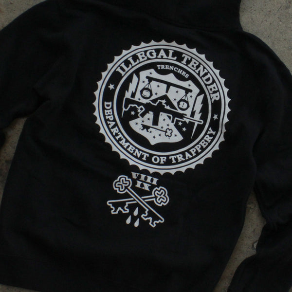 Legal Money Zip Up Hoody Black - 8
