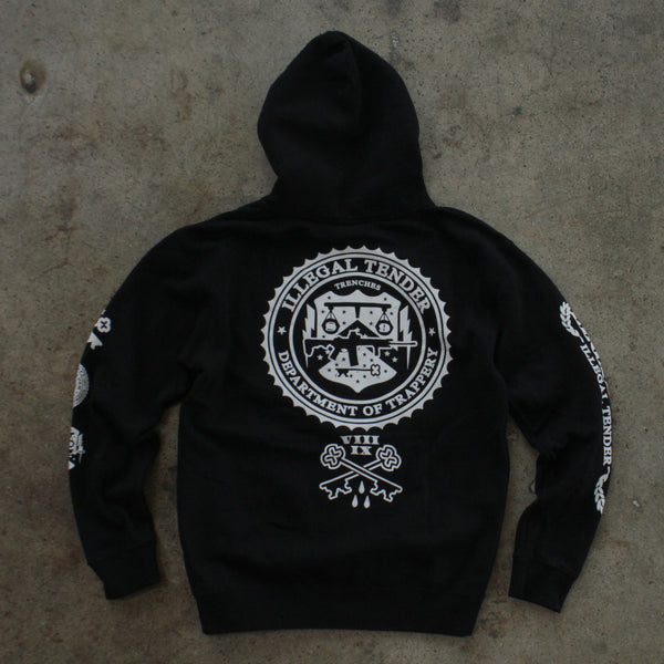Legal Money Zip Up Hoody Black - 6
