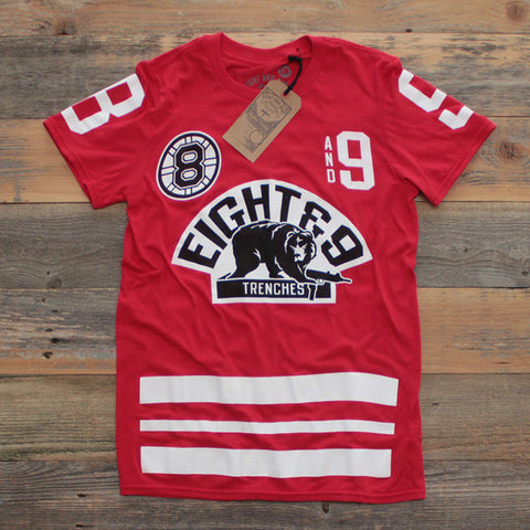 Trenches Hockey Jersey Fire Red Match Chicago 10s 8 Amp 9