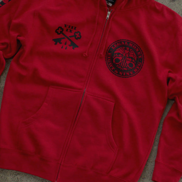 Legal Money Zip Up Hoody Red - 7