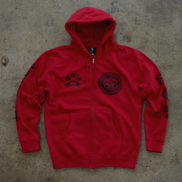 Legal Money Zip Up Hoody Red - 5