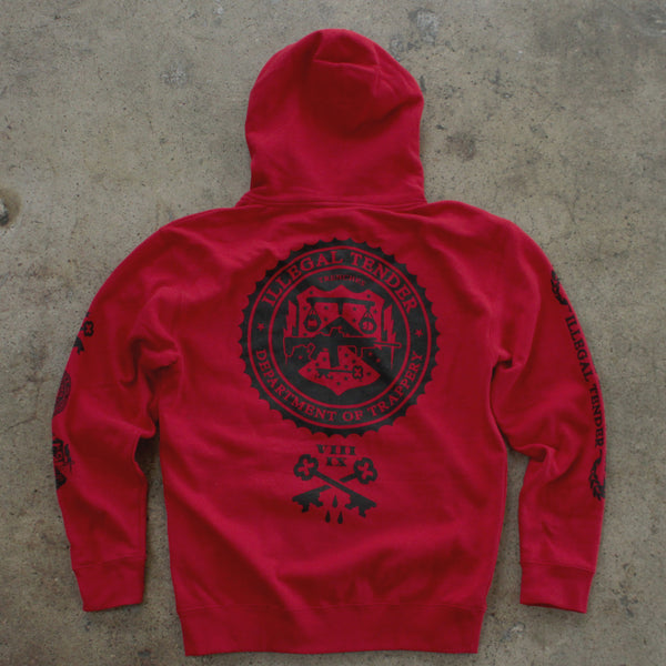 Legal Money Zip Up Hoody Red - 6