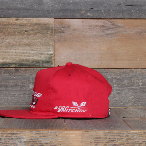 Stop Snitchin Unstructured Baseball Hat Red - 2