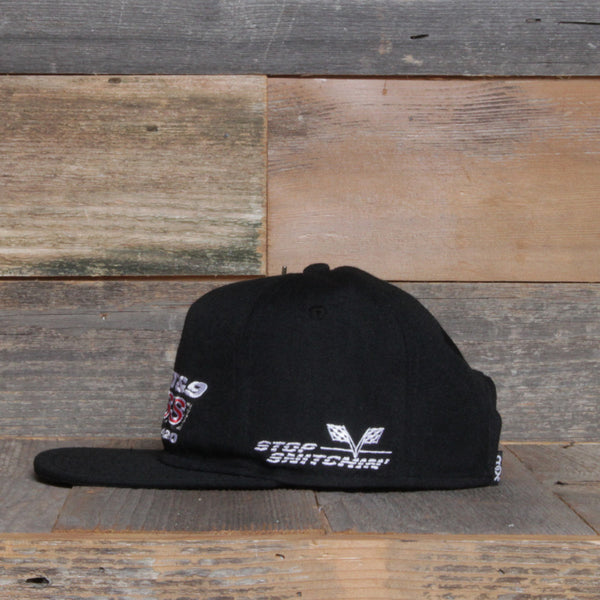 Stop Snitchin Unstructured Baseball Hat Black - 2