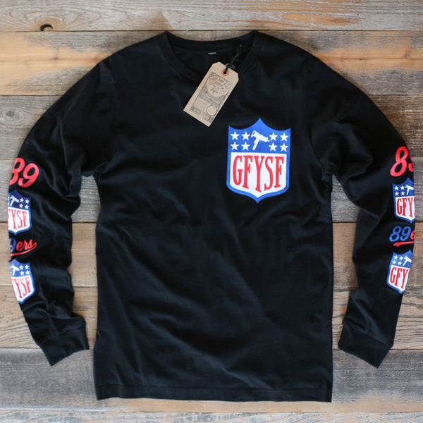 GFYSF League Jersey Tee Black L/S
