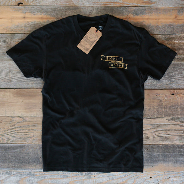 Rosebud Classic T Shirt Black Metallic - 2