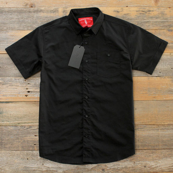 Infinite Keys Black Button Up Shirt Streetwear (2)