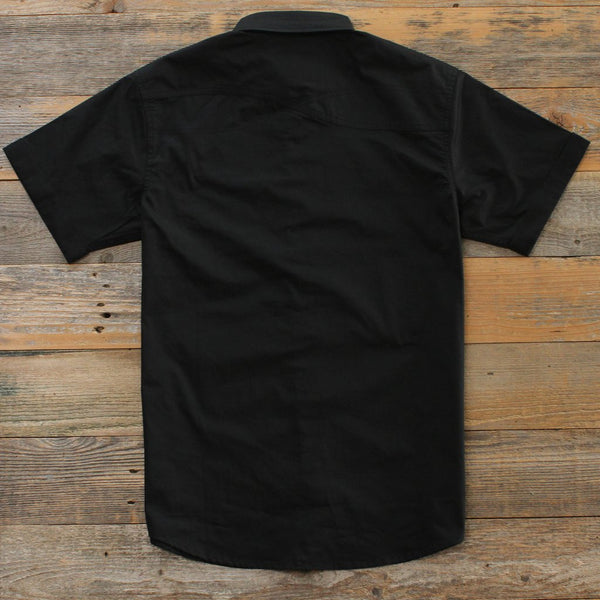 Infinite Keys Black Button Up Shirt back Streetwear