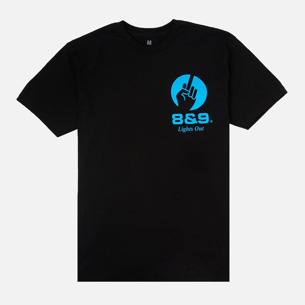 Lights Out T Shirt Black