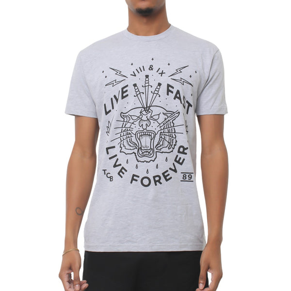 Live Fast Forever Shirt Heather Grey