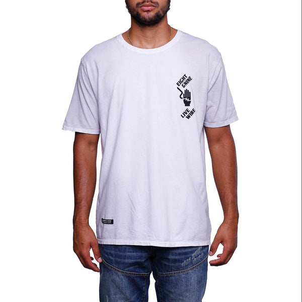 Live Wire T Shirt Dirty White _1