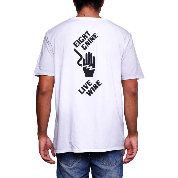 Live Wire T Shirt Dirty White _3