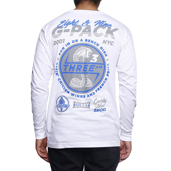 G Pack L/S T Shirt White