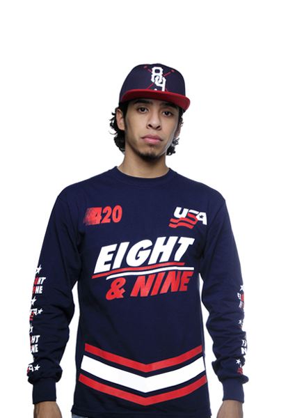 Team USA Jersey Tee Navy L/S - 3