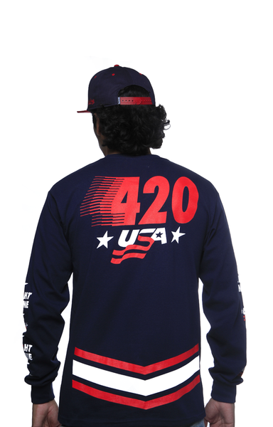 Team USA Jersey Tee Navy L/S - 4
