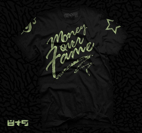 Foamposite Electric Green Money Over Fame T Shirt - 1
