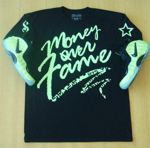 Foamposite Electric Green Money Over Fame T Shirt - 2