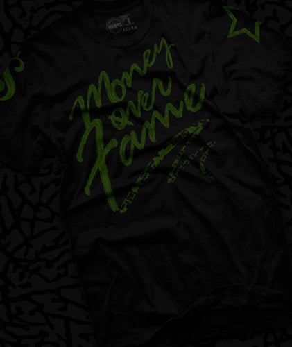 Money Over Fame Dark Pine T Shirt - 1