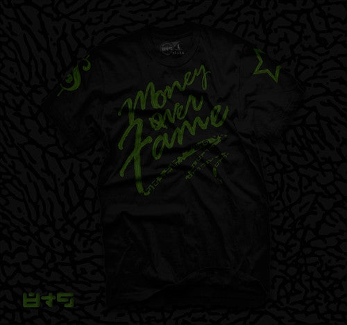 Money Over Fame Dark Pine T Shirt - 2