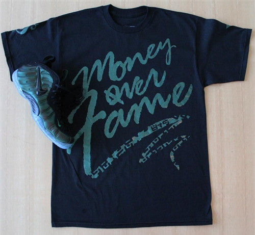 Money Over Fame Dark Pine T Shirt - 3