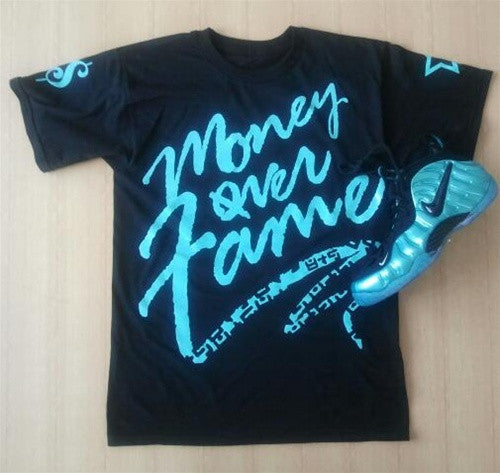 Foamposite Retro Blue Electric Money Over Fame T Shirt - 2