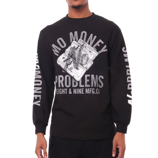 Mo Money No Problems LS T Shirt Black