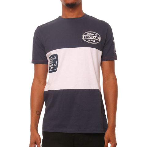 Money Division Navy Panel Racing Tee