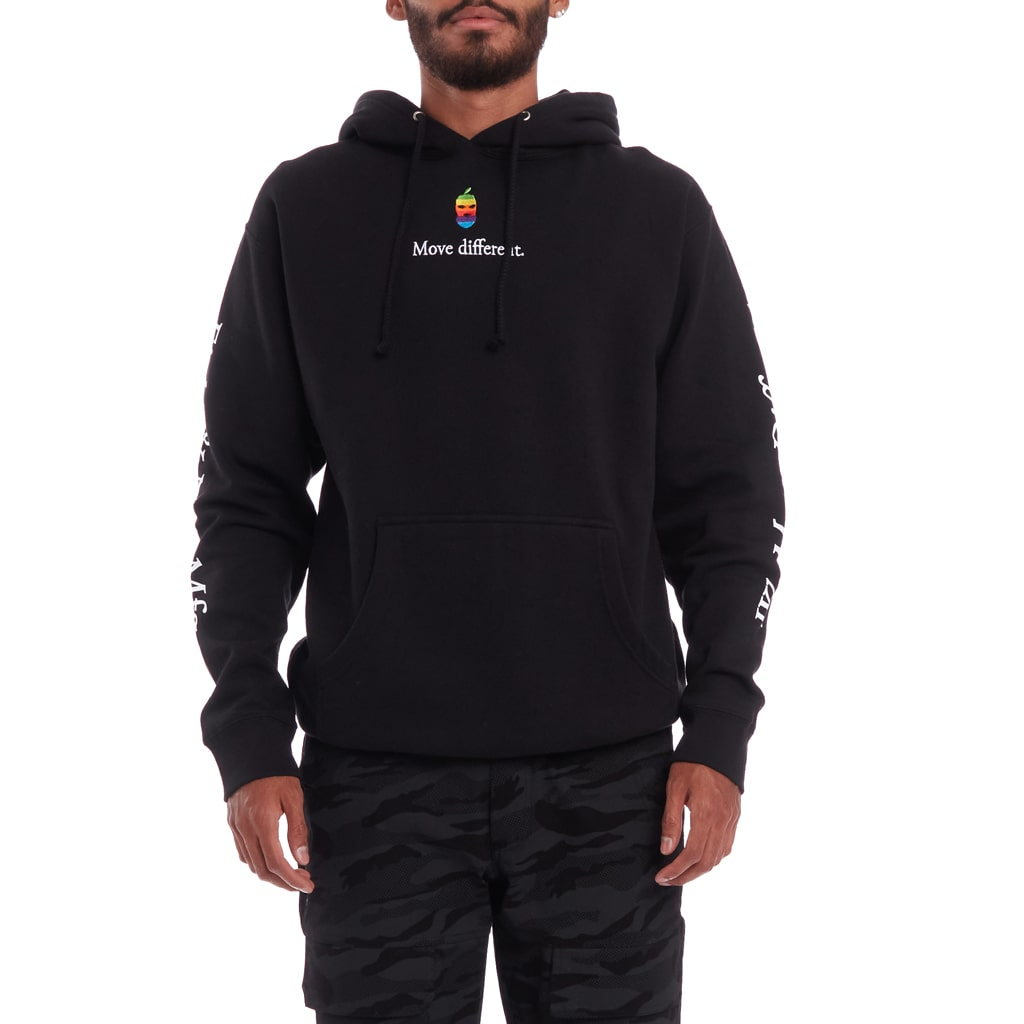 Move Different Embroidered Hoodie Black