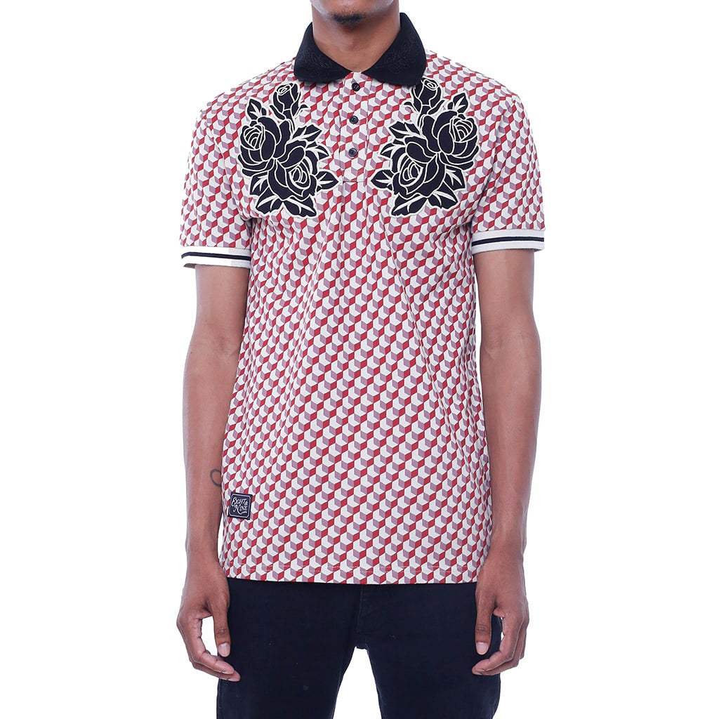 New Life Pattern Polo Shirt