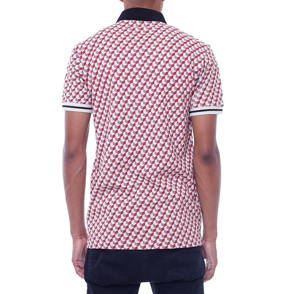 New Life Pattern Polo Shirt Back