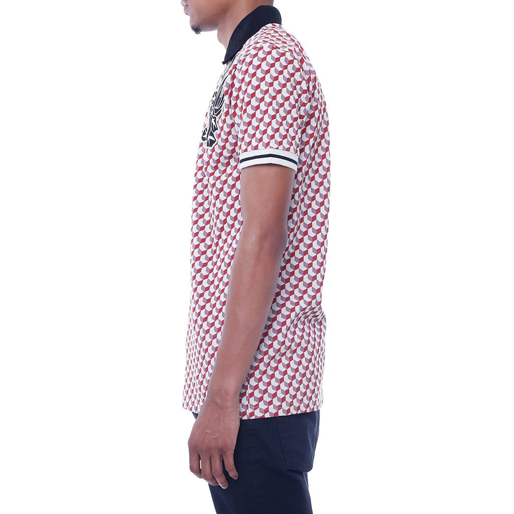 New Life Pattern Polo Shirt Left